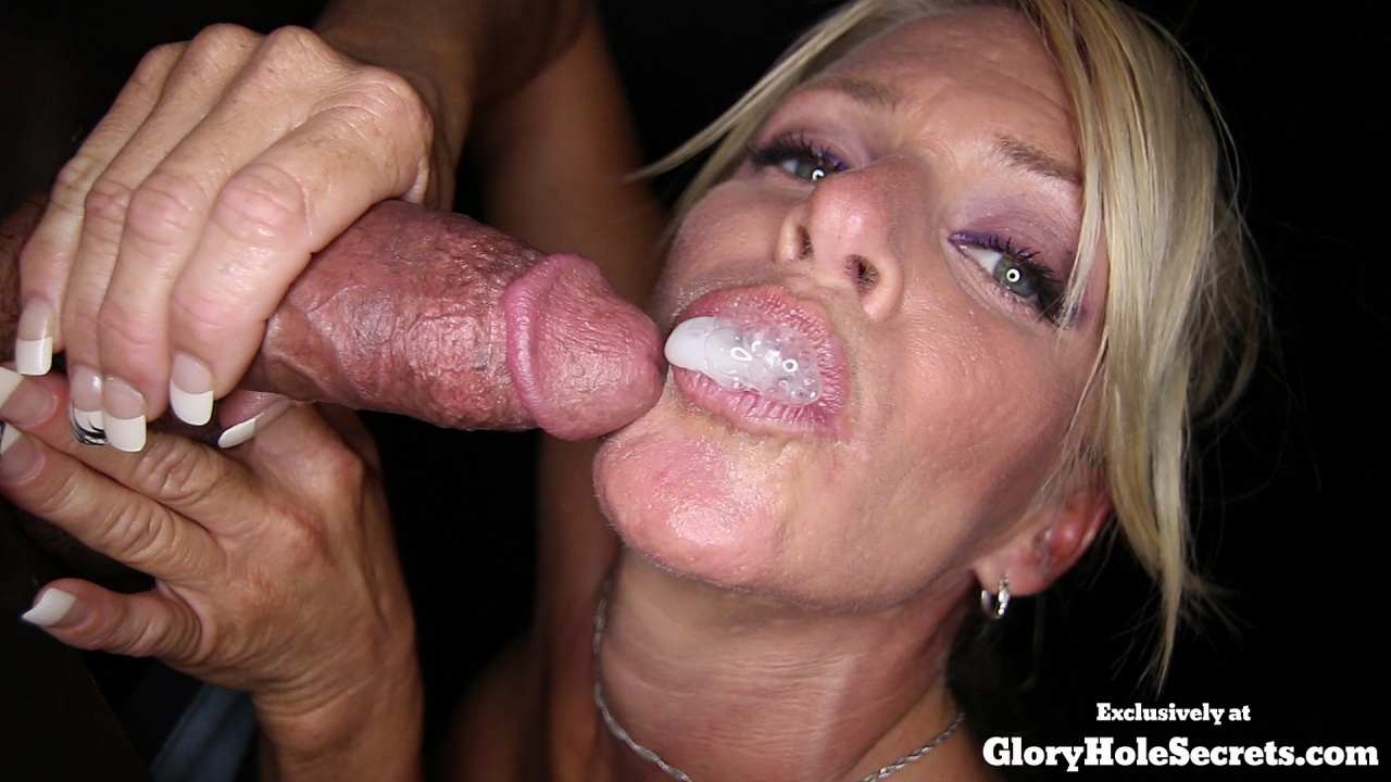 Real glory hole with